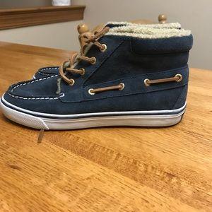 Sperry High Top Suede Sneaker Boots